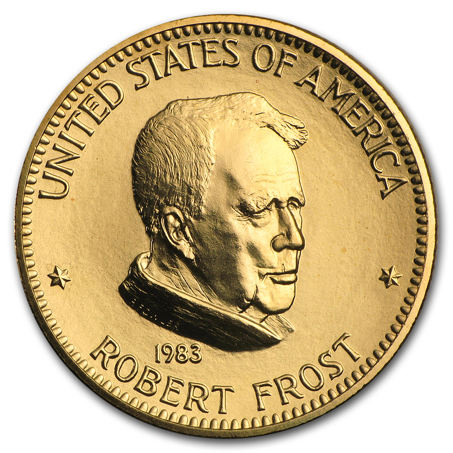 U.S. Mint 1 oz Gold Commemorative Arts Medal Robert Frost