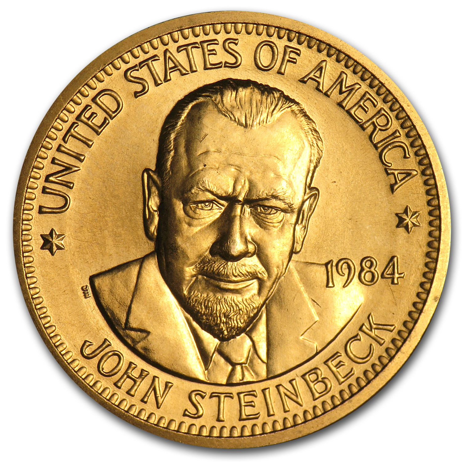 U.S. Mint 1/2 oz Gold Commemorative Arts Medal John Steinbeck