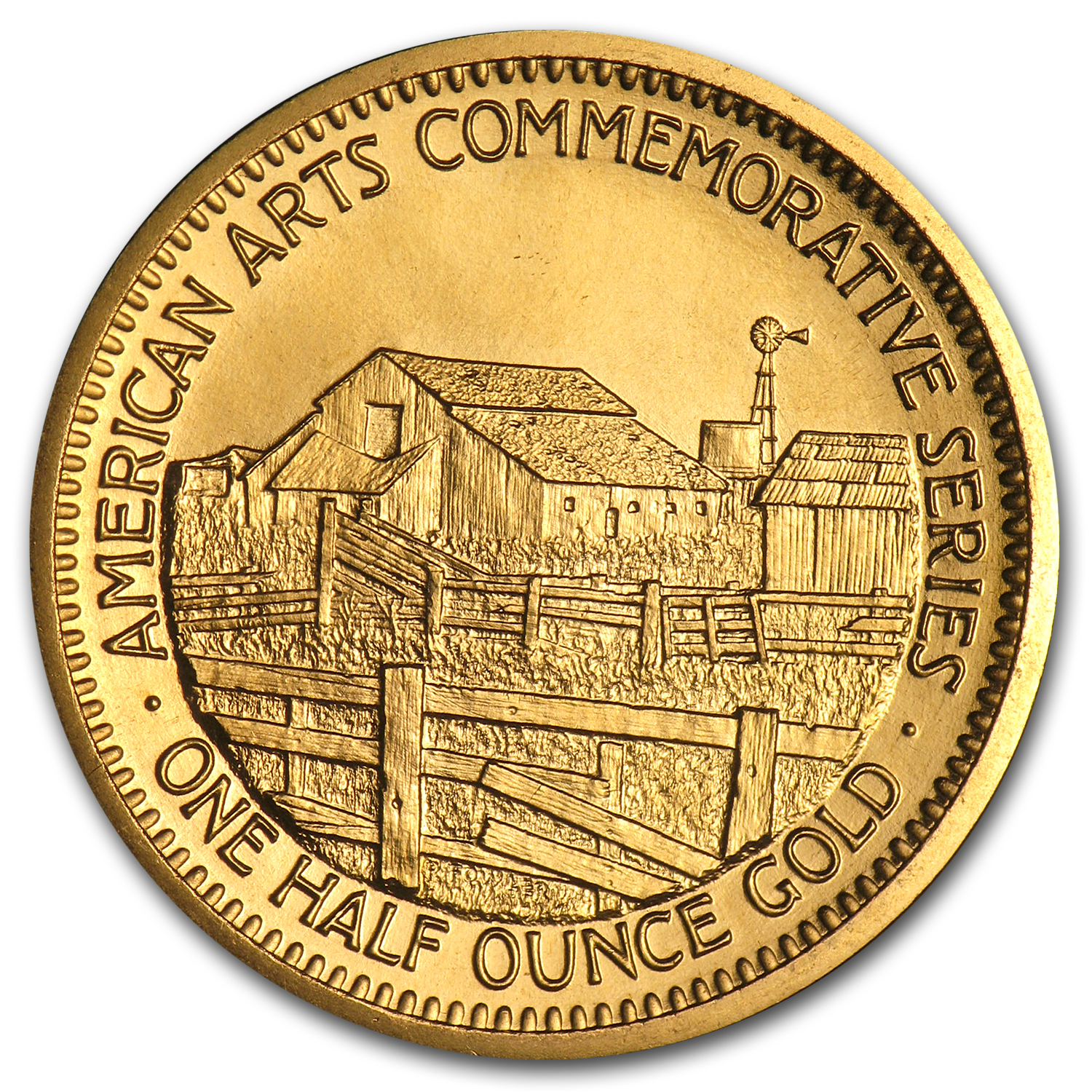 U.S. Mint Gold 1/2 oz John Steinbeck Commemorative Arts Medals