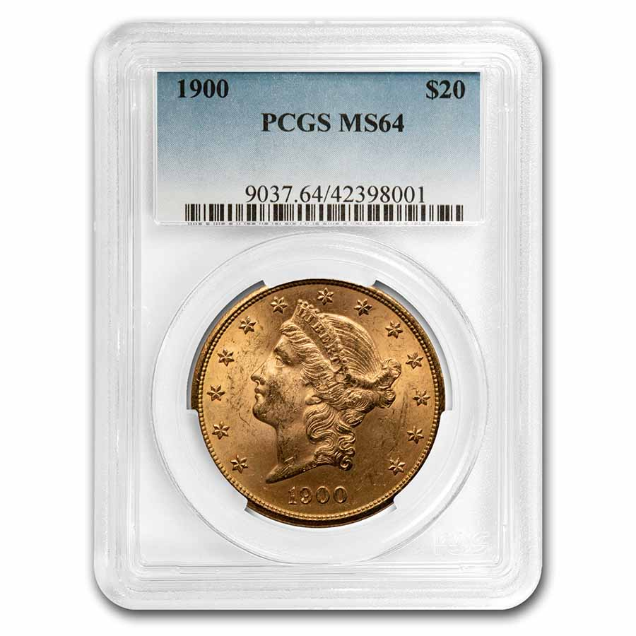1900 $20 Liberty Gold Double Eagle MS-64 PCGS