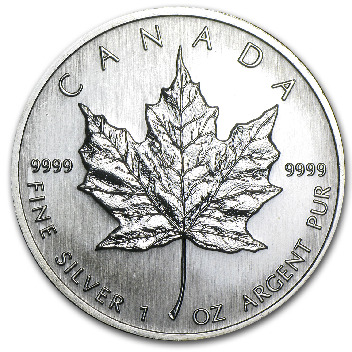 2008 1 oz Silver Canadian Maple Leaf BU