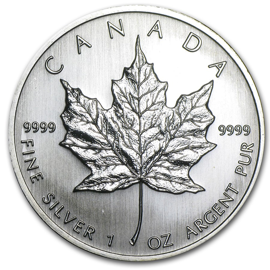 2008 Canada 1 oz Silver Maple Leaf BU | Silver Maple Leafs ...