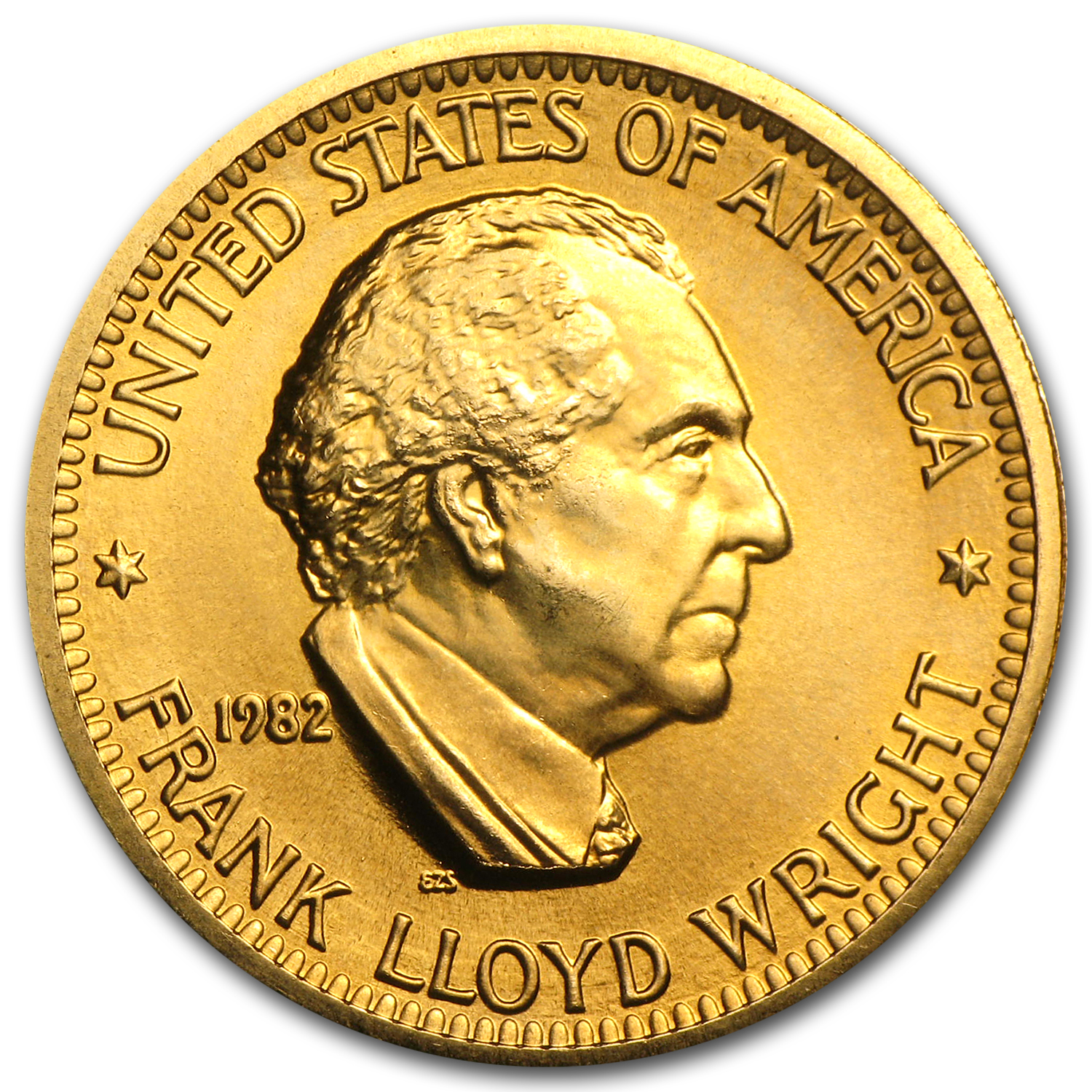 U.S. Mint 1/2 oz Gold Commemorative Arts Medal Frank Lloyd Wright