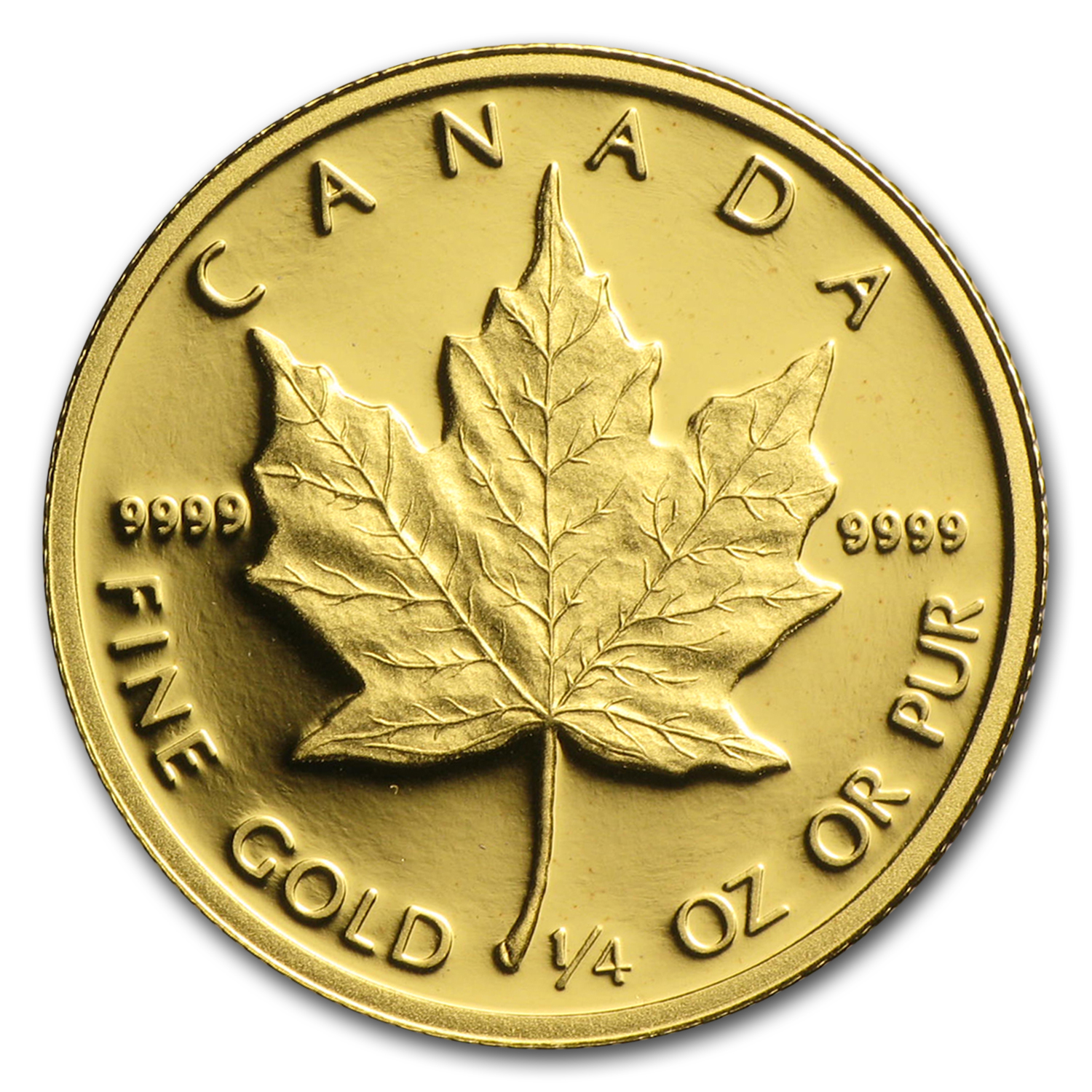 1989 Canada 1/4 oz Proof Gold Maple Leaf