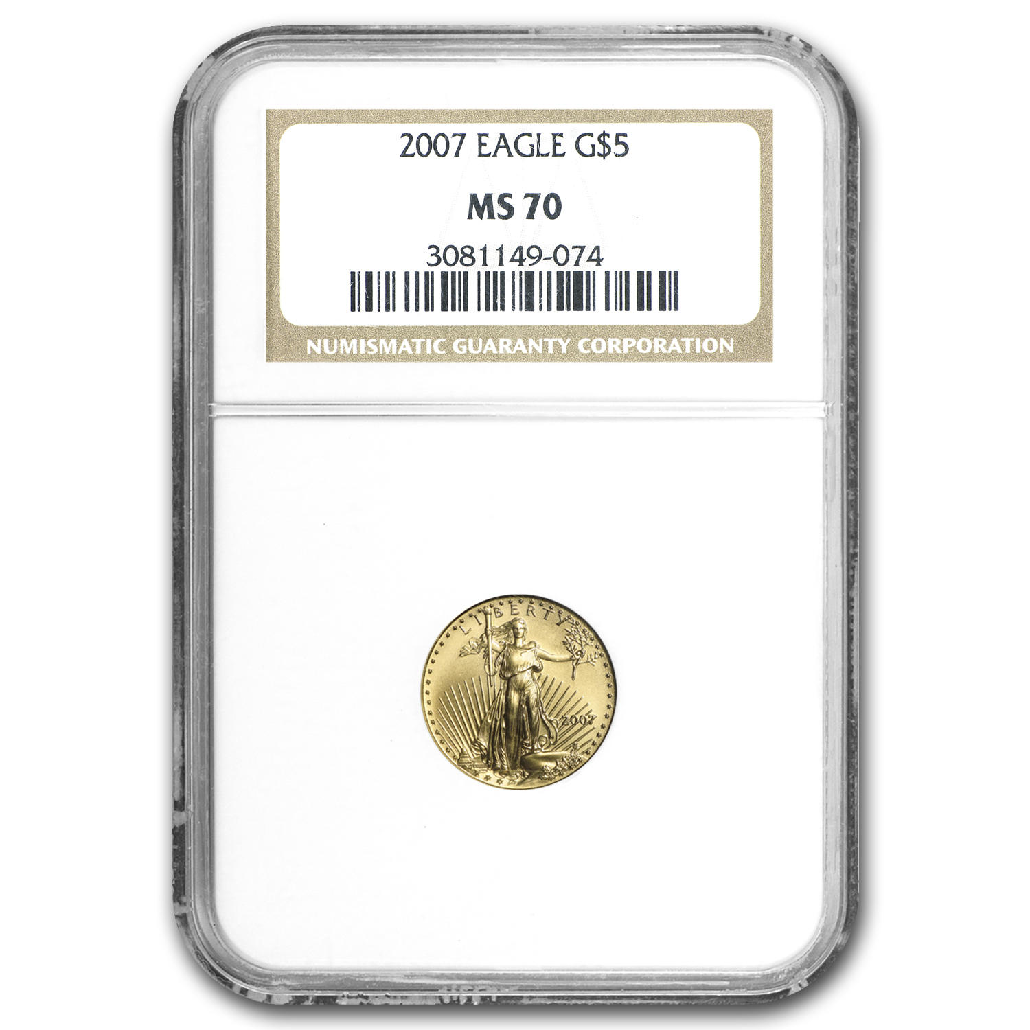 2007 1/10 oz Gold American Eagle MS-70 NGC