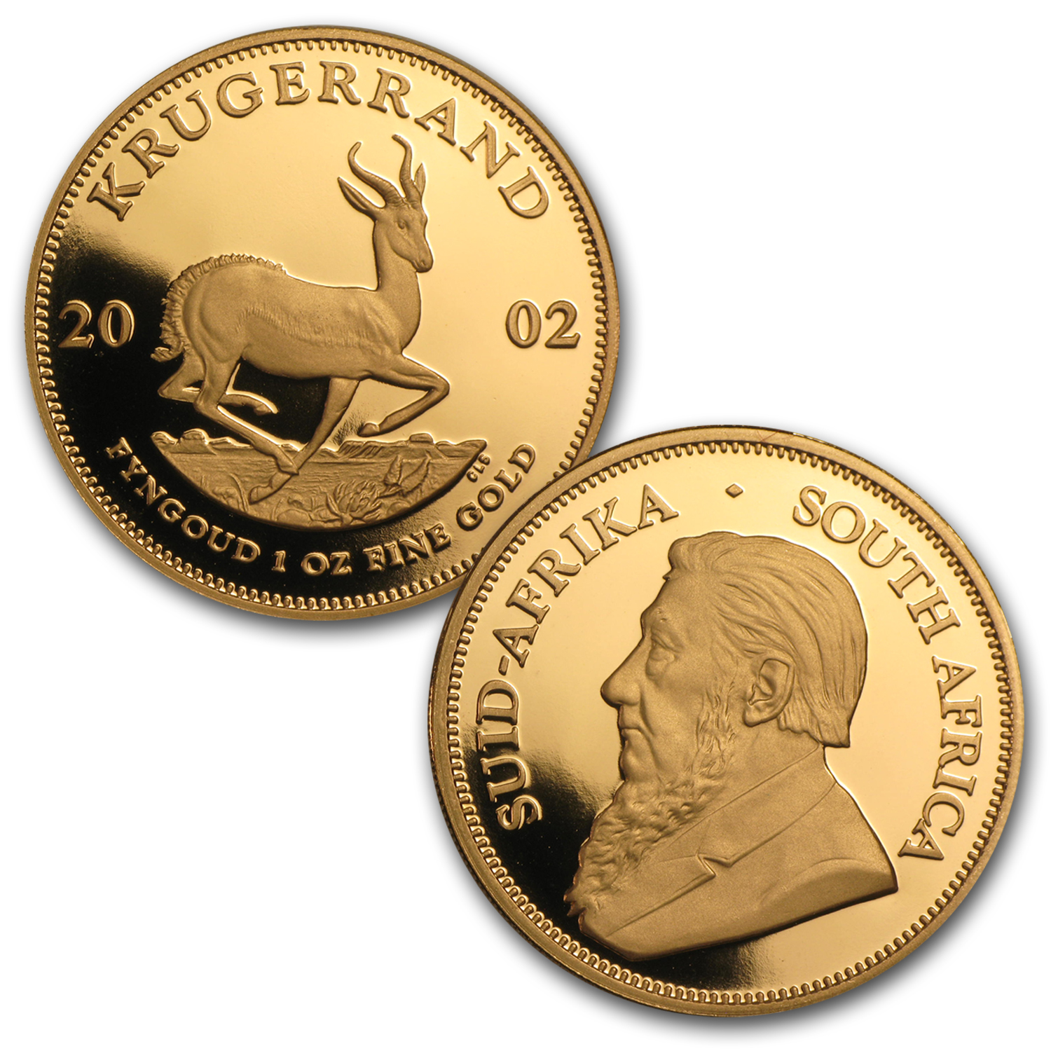 2002 5-Coin Gold South African Krugerrand Proof Set