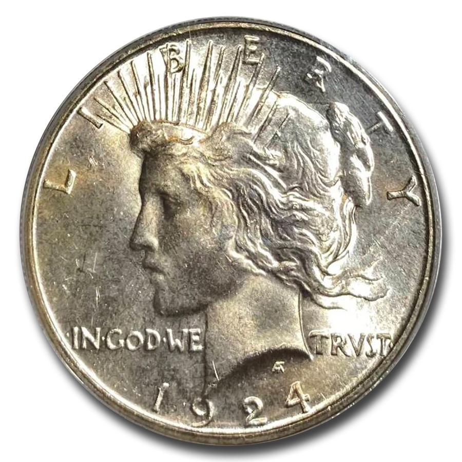 1924-S Peace Dollar MS-64 PCGS