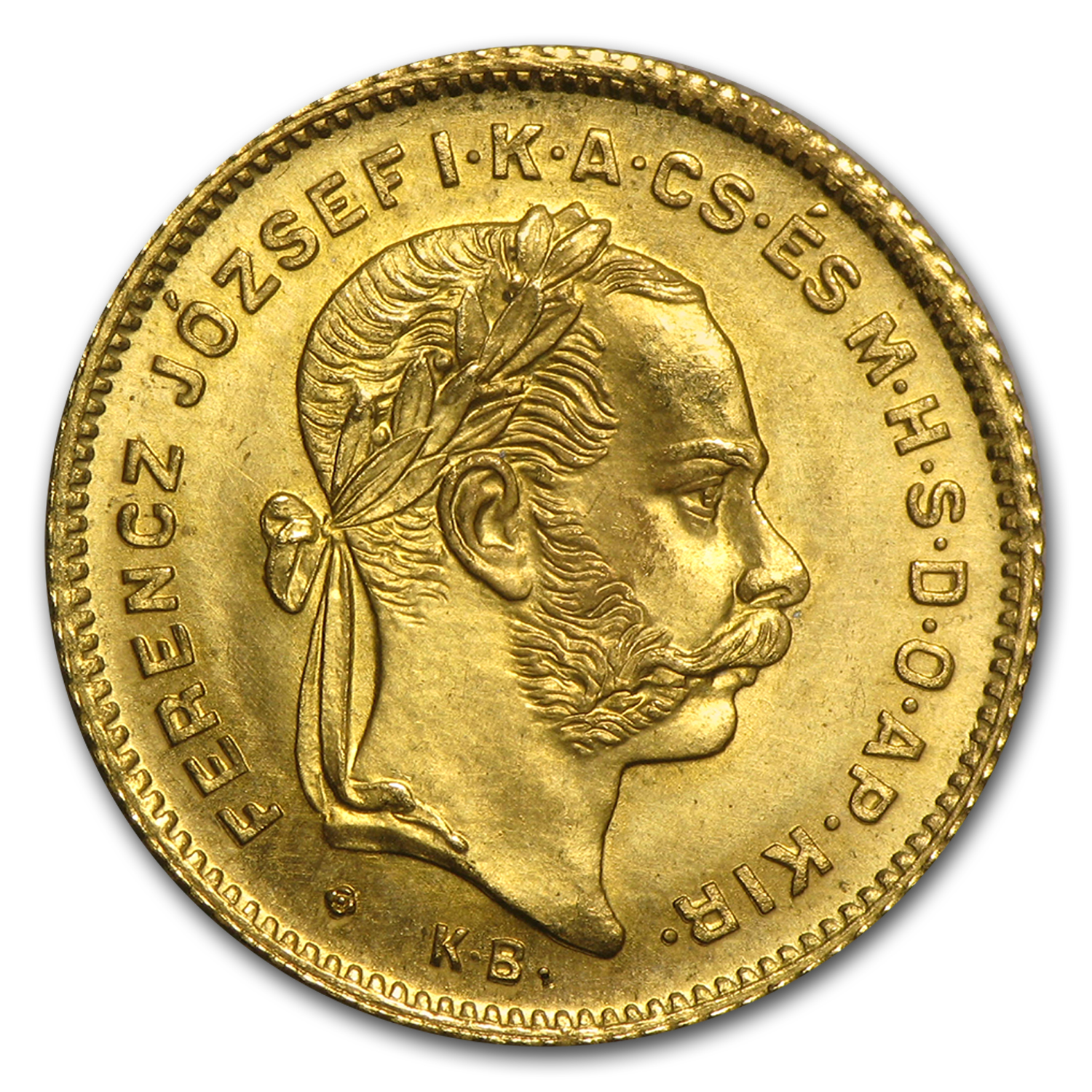 Hungary Gold 4 Forint/10 Franc AU Random Dates