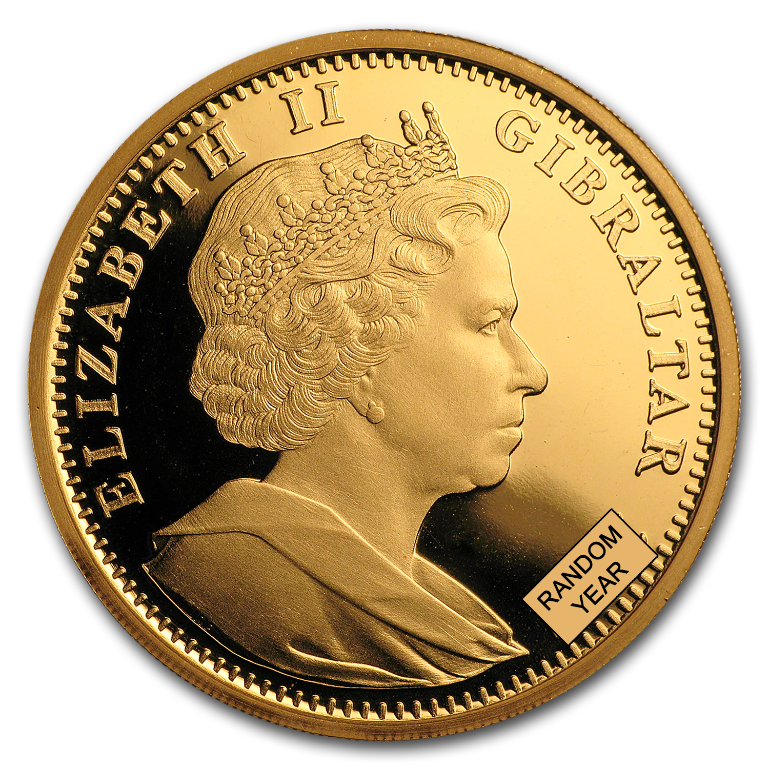 Gibraltar 1 oz Gold Royal Cherubs - Uncirculated (Random Dates)