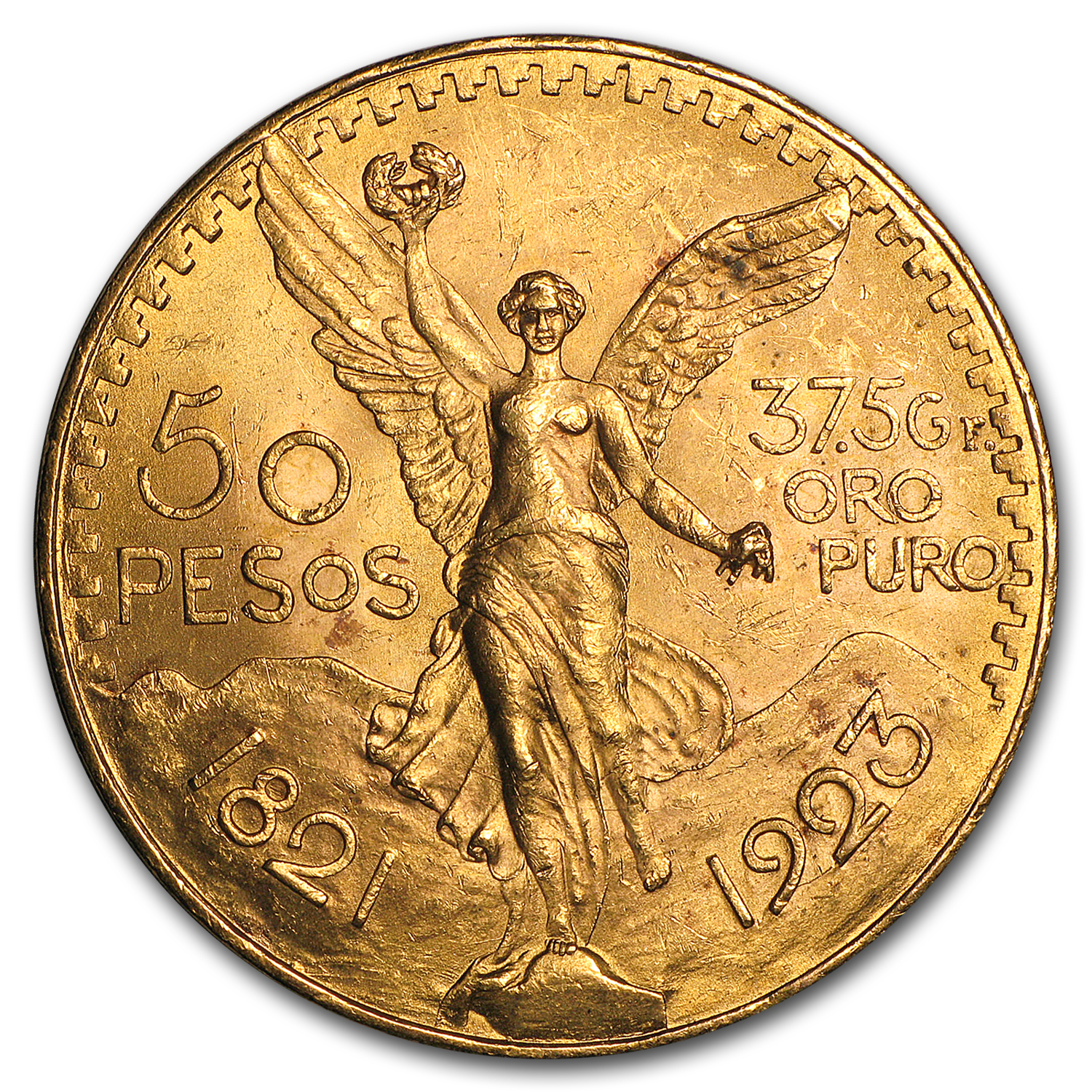 1923 Mexico Gold 50 Pesos AU