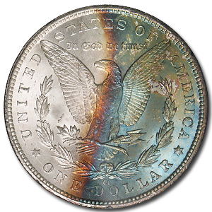 1883-CC Morgan Dollar MS-63 (GSA, Rev Toning)