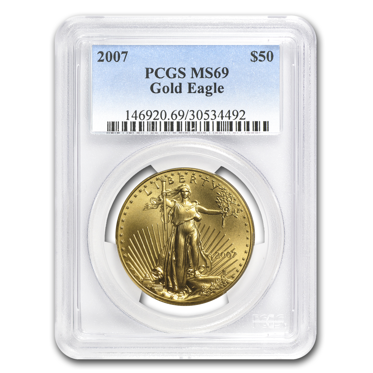 2007 1 oz Gold American Eagle MS-69 PCGS