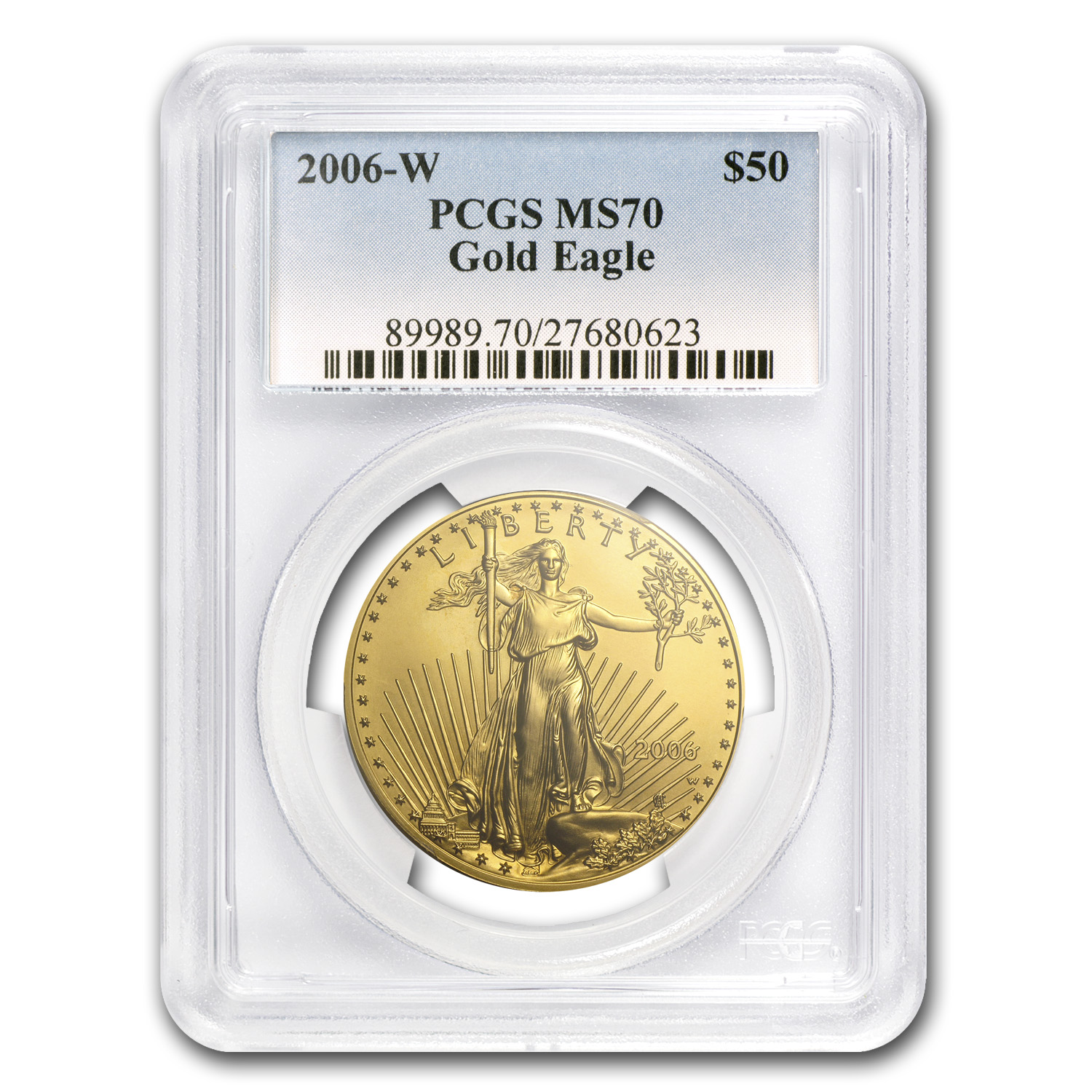 2006-W 1 oz Burnished Gold Eagle MS-70 PCGS