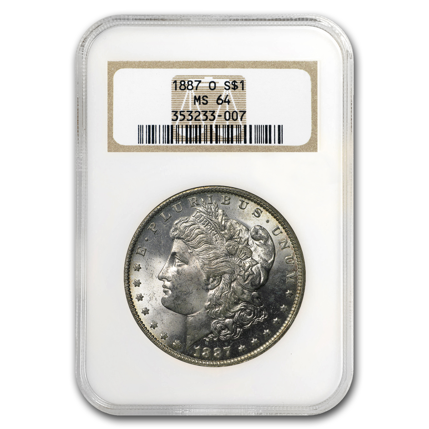 1887-O Morgan Dollar MS-64 NGC