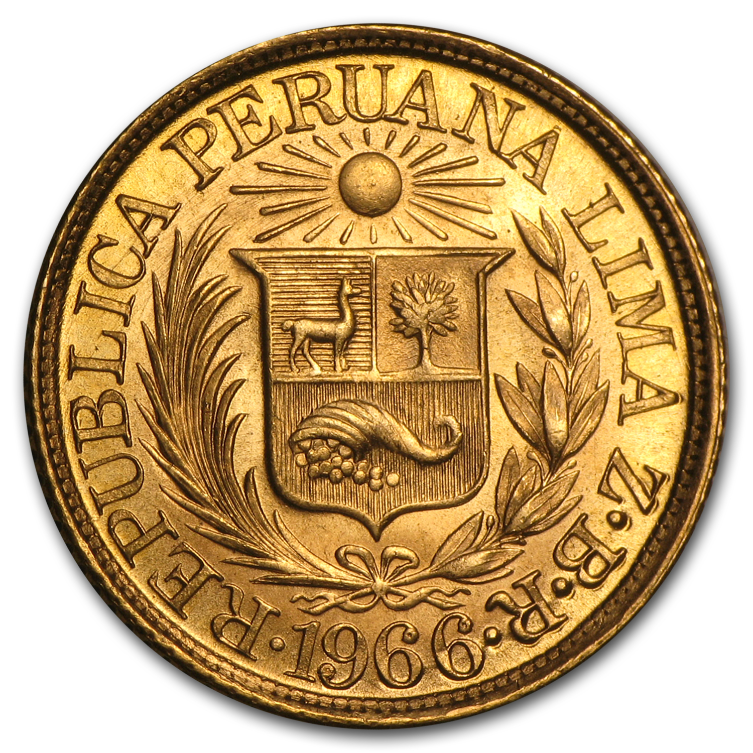 1902-1969 Peru Gold 1/2 Libra AU or Better (AGW 0.1177, Random)