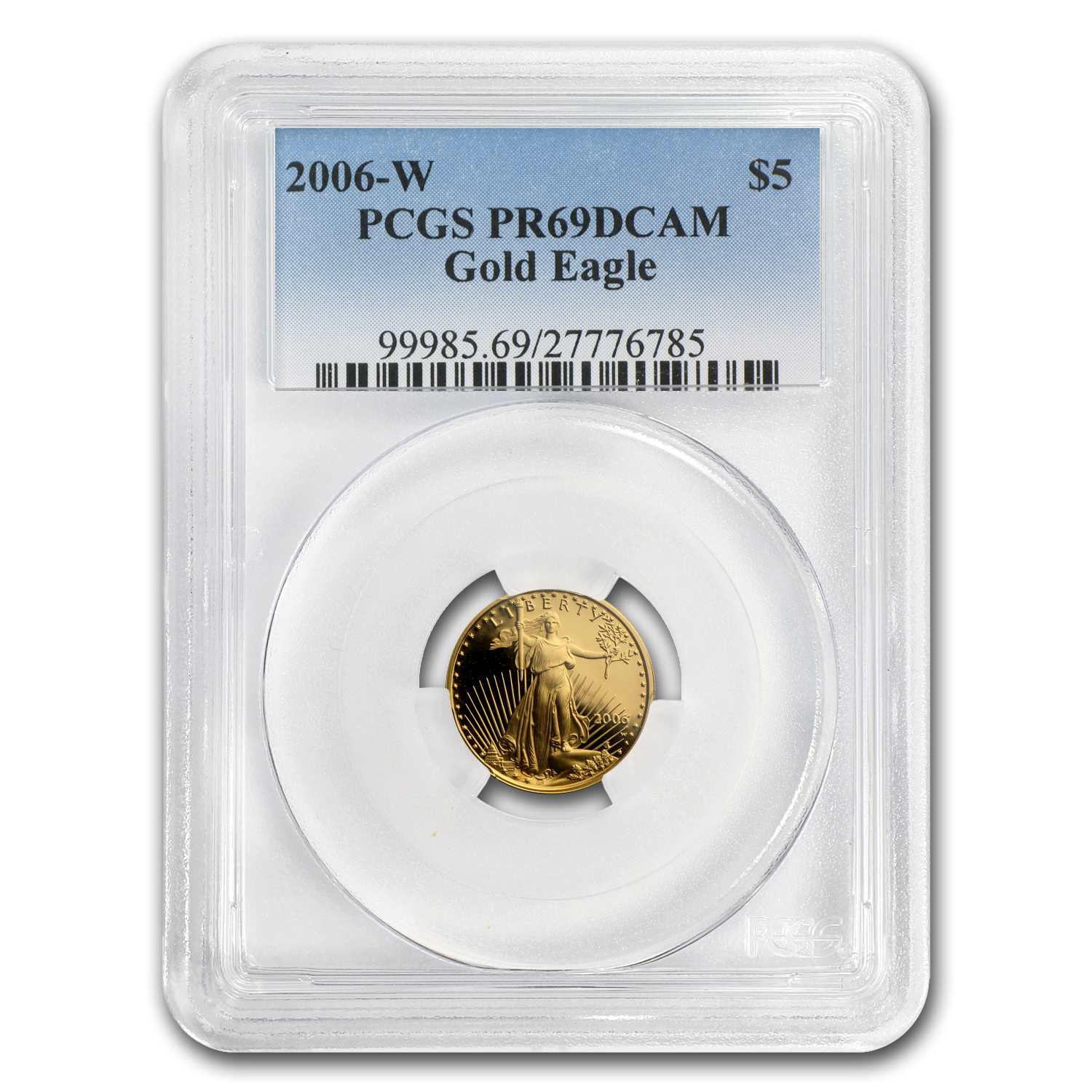 2006-W 1/10 oz Proof Gold American Eagle PR-69 PCGS