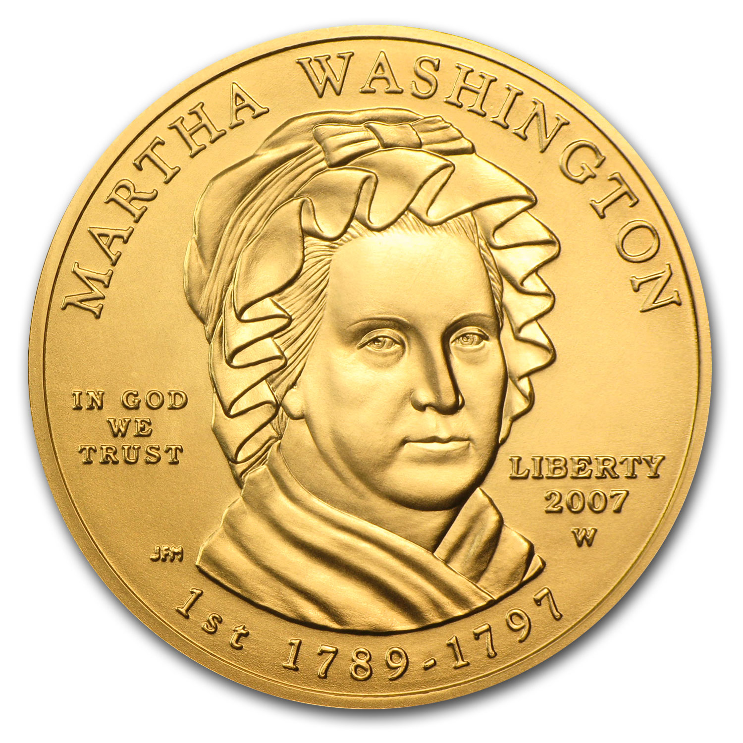 2007-W 1/2 oz Gold Martha Washington BU (w/Box & COA)