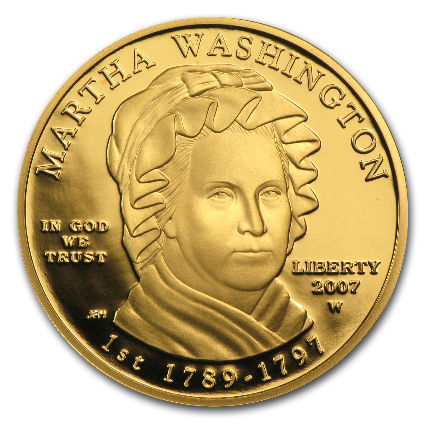 2007-W 1/2 oz Proof Gold Martha Washington (w/Box & CoA)