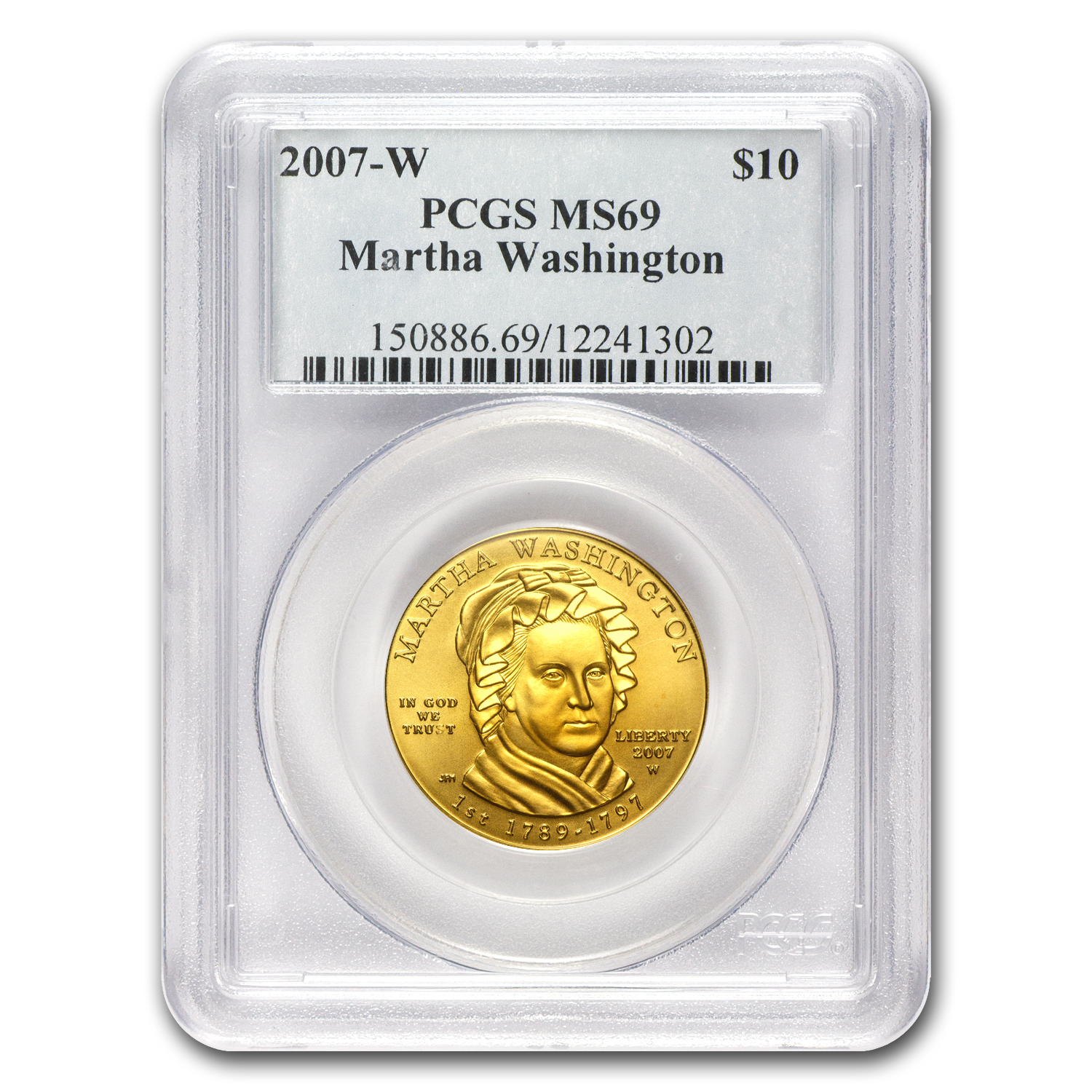 2007-W 1/2 oz Gold Martha Washington MS-69 PCGS