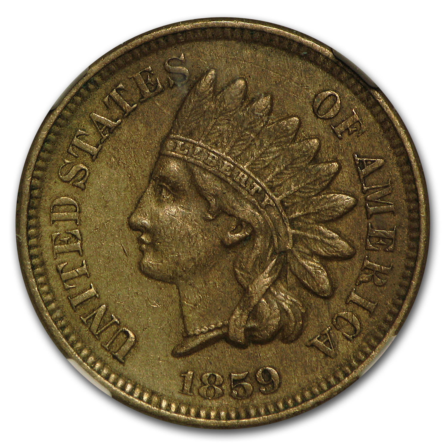 1859 Indian Head Cent XF-45 NGC