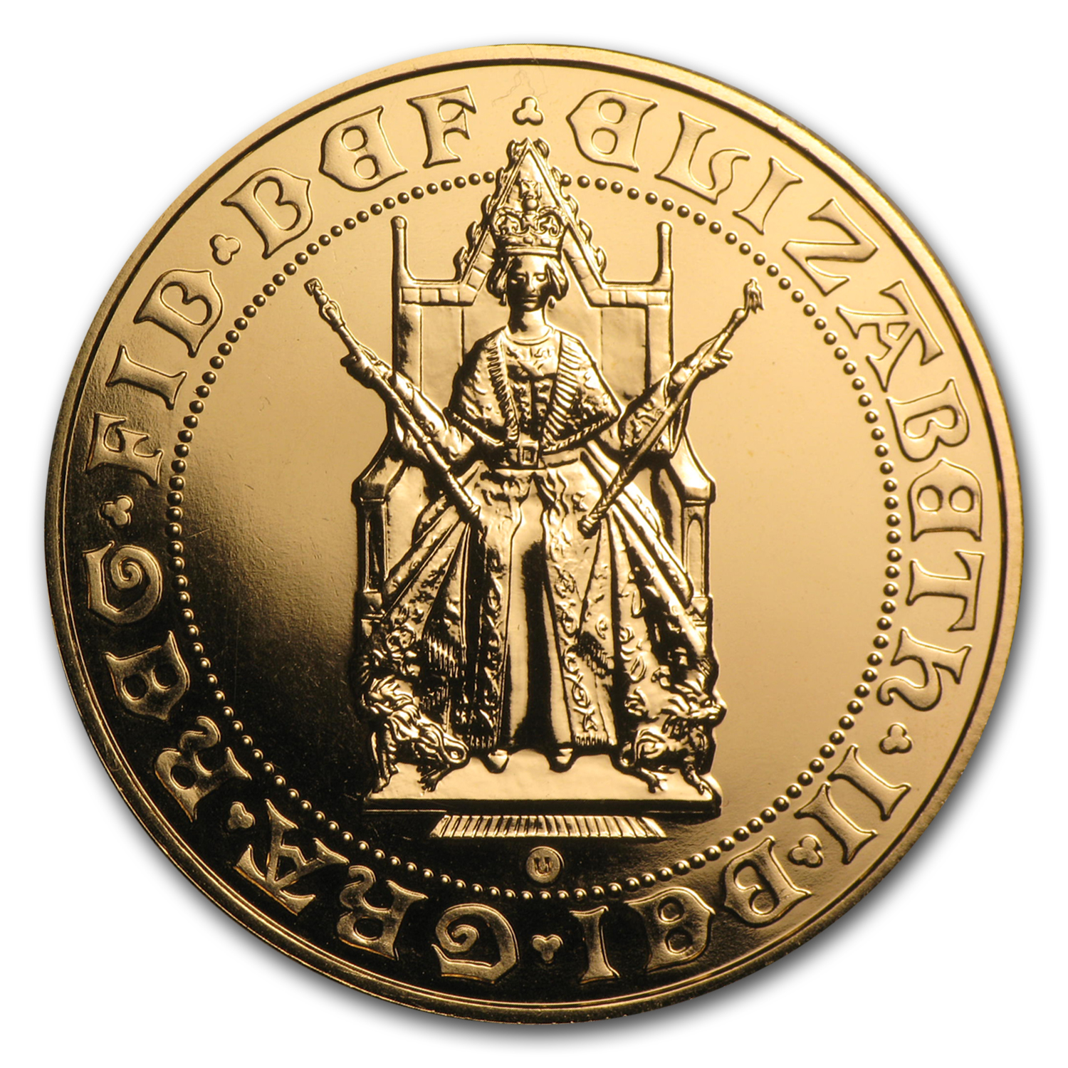 1989 Great Britain Gold £5 BU (500th Anniv)