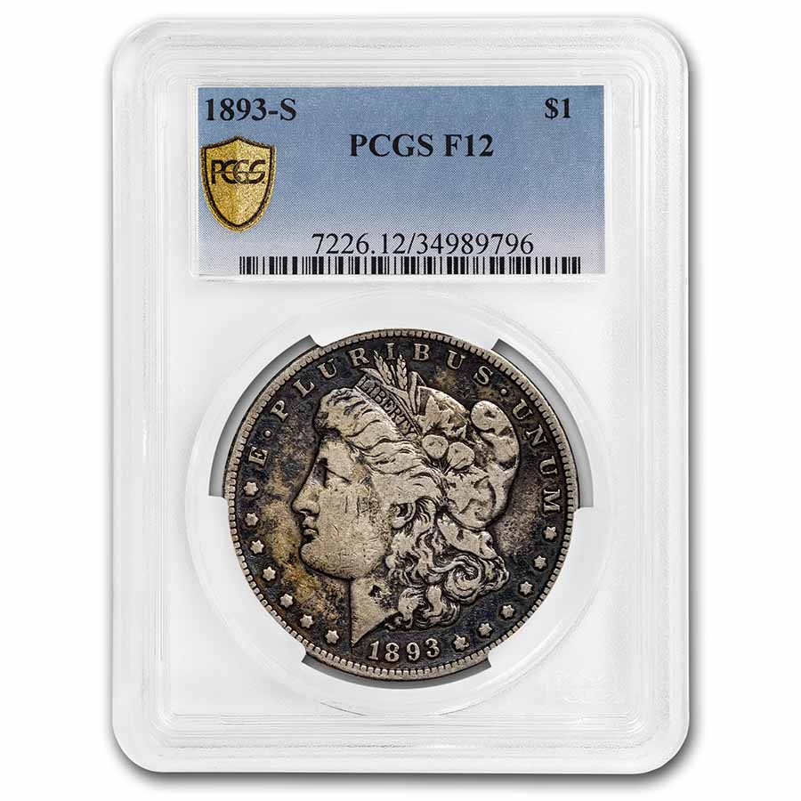 1893-S Morgan Dollar Fine-12 PCGS (Key Date)
