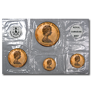 Bahamas 1971-1972 4 Coin Gold Proof Set