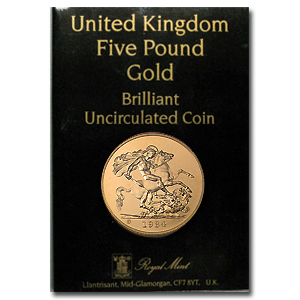 Great Britain 1984 Gold £5 Brilliant Uncirculated