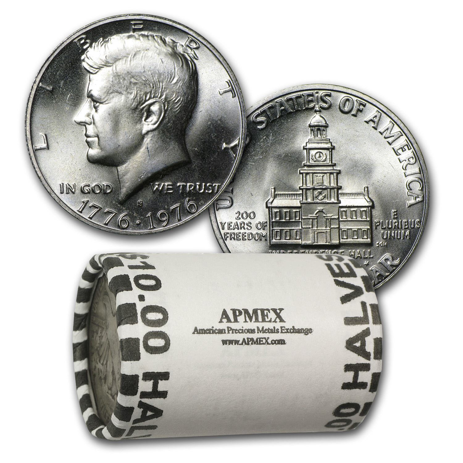 1976-S Kennedy Half Dollar Roll 40% Silver (20ct) - BU