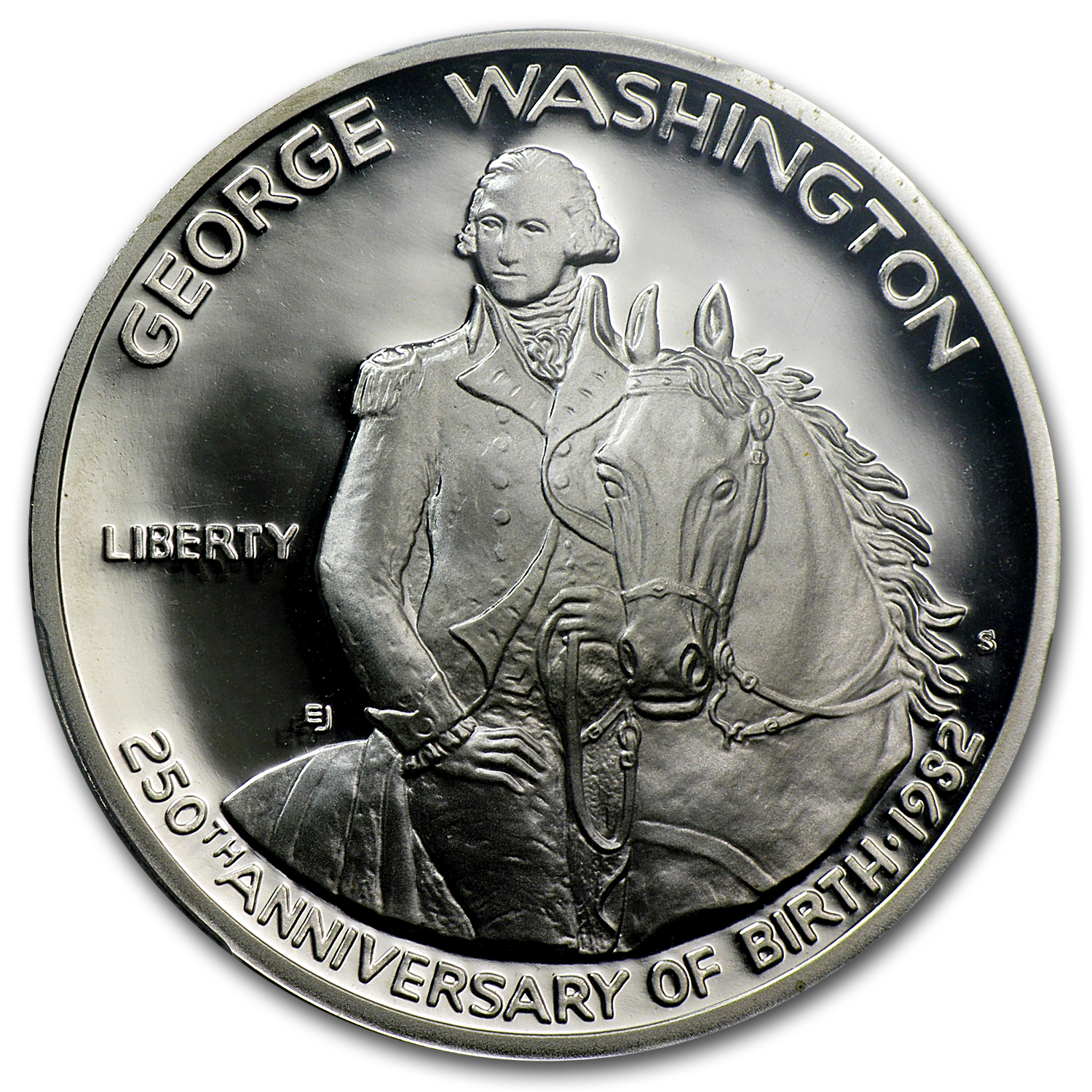 1982-S George Washington 1/2 Dollar Silver Commem PR-69 PCGS