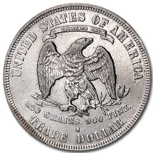 1877-S Trade Dollar Extra Fine Details (Cleaned)