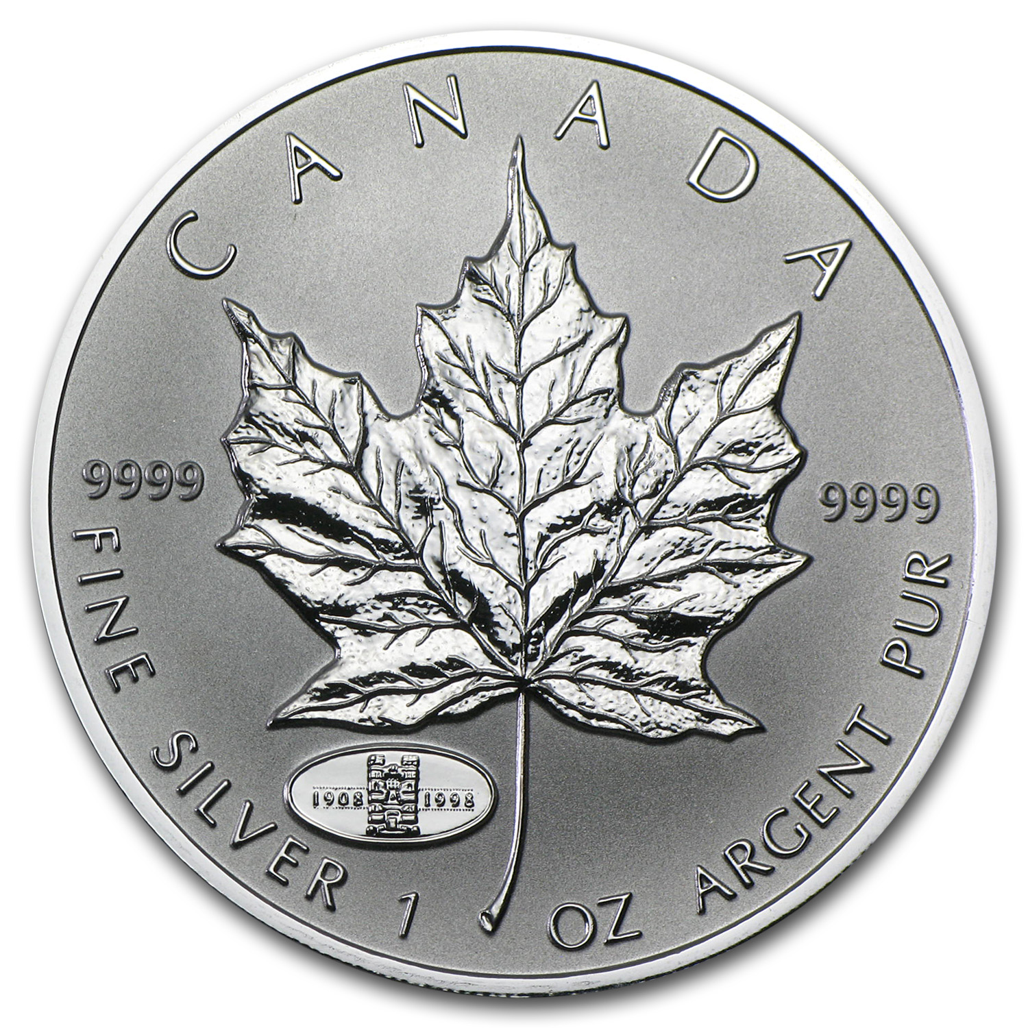 1998 Canada 1 oz Silver Maple Leaf RCM Privy
