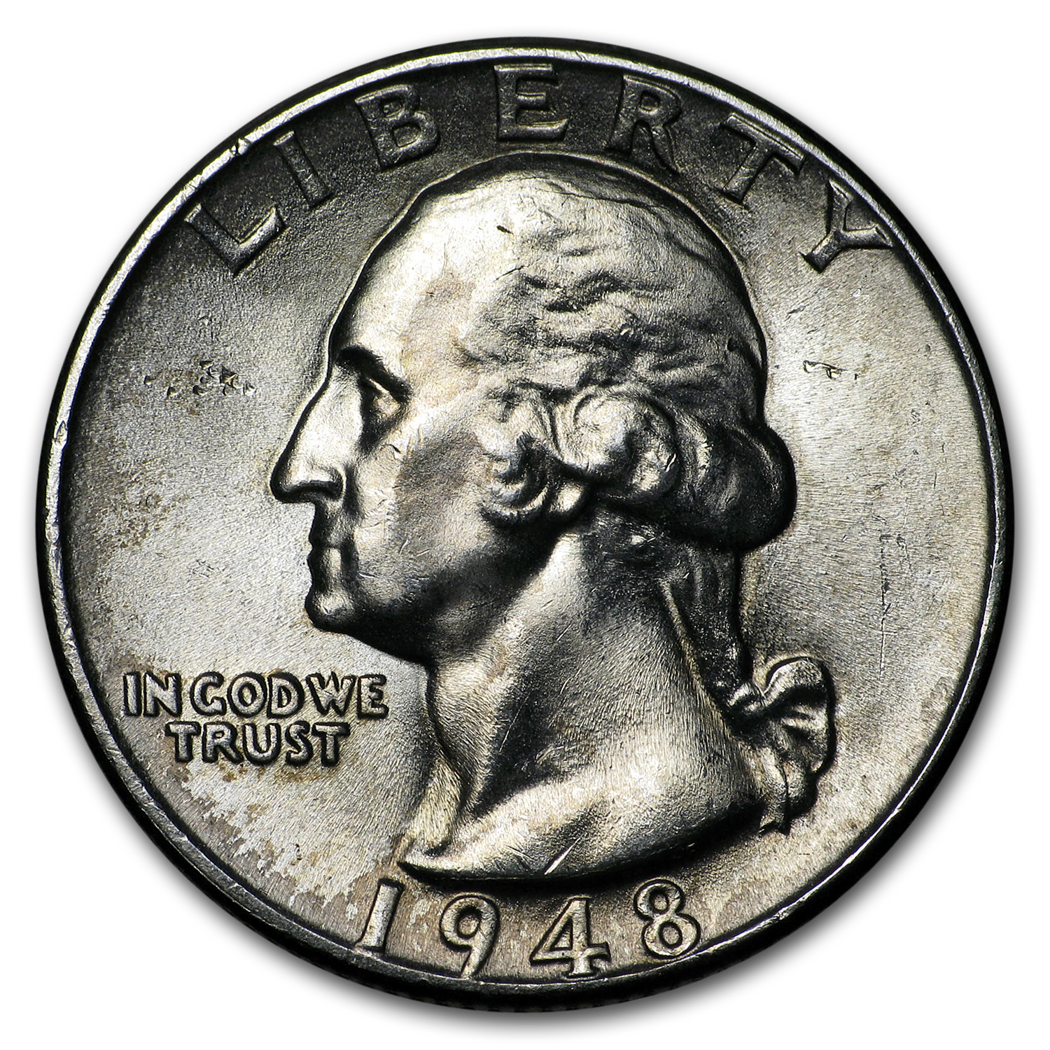 1948 Washington Quarter BU