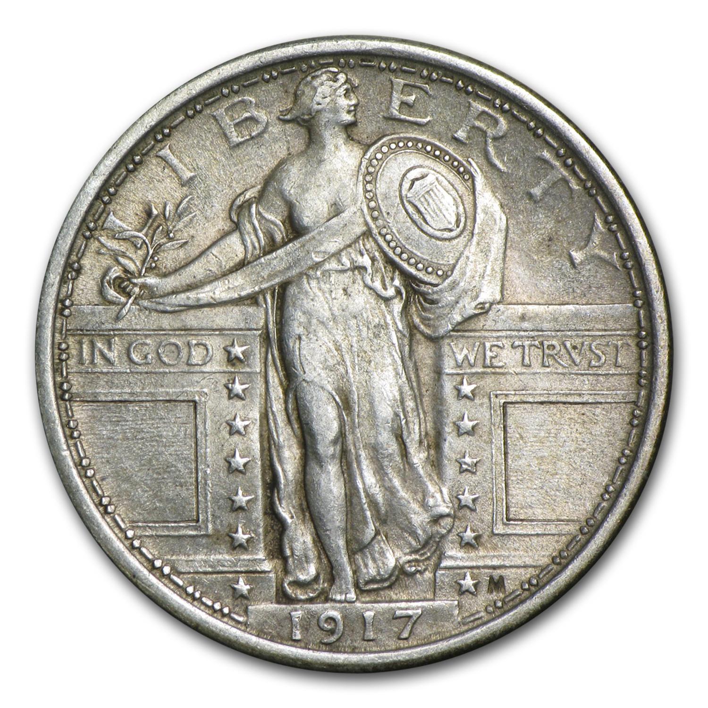 1917 Standing Liberty Quarter Type I Au Standing Liberty