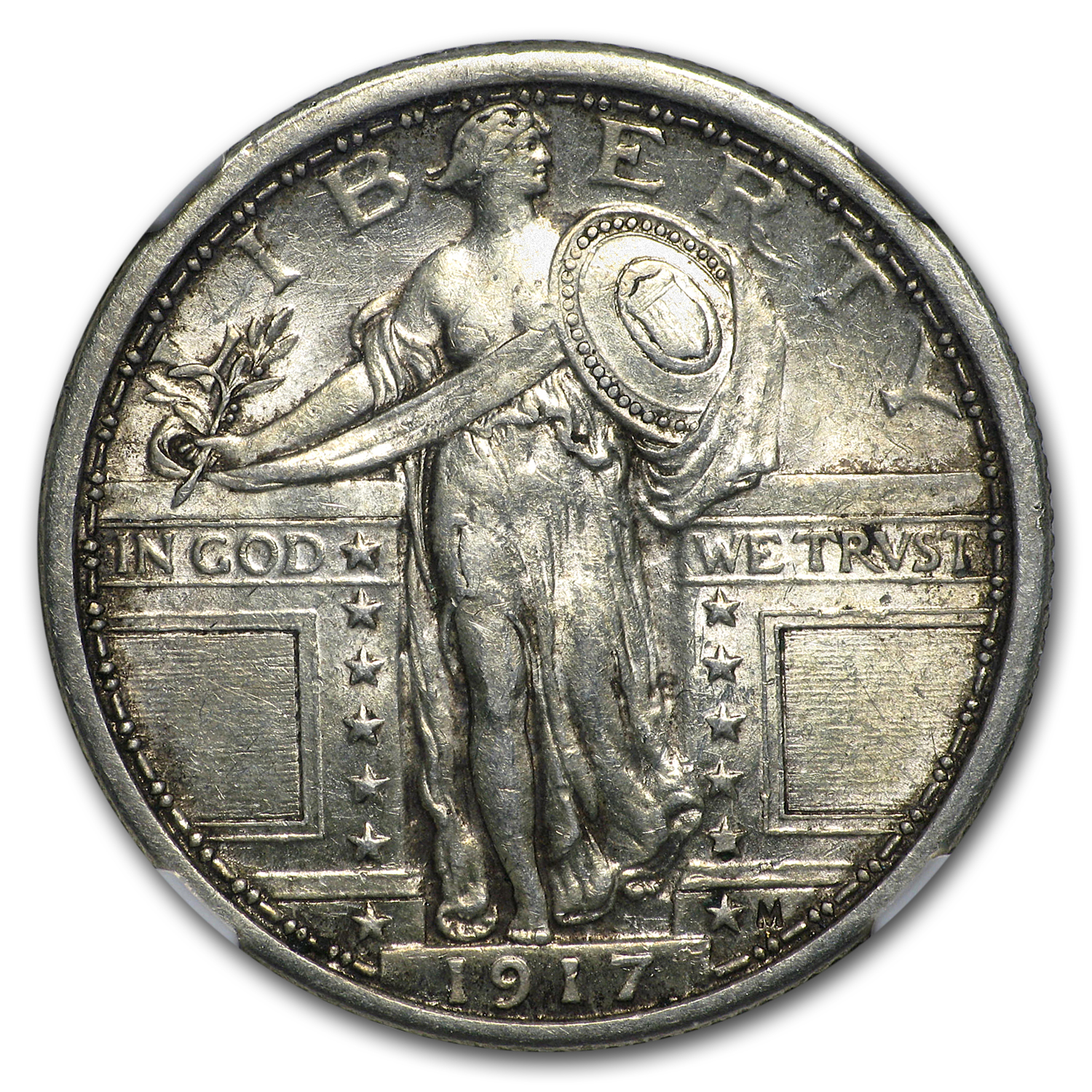 1917 Standing Liberty Quarter Type-I MS-62 (Full Head)