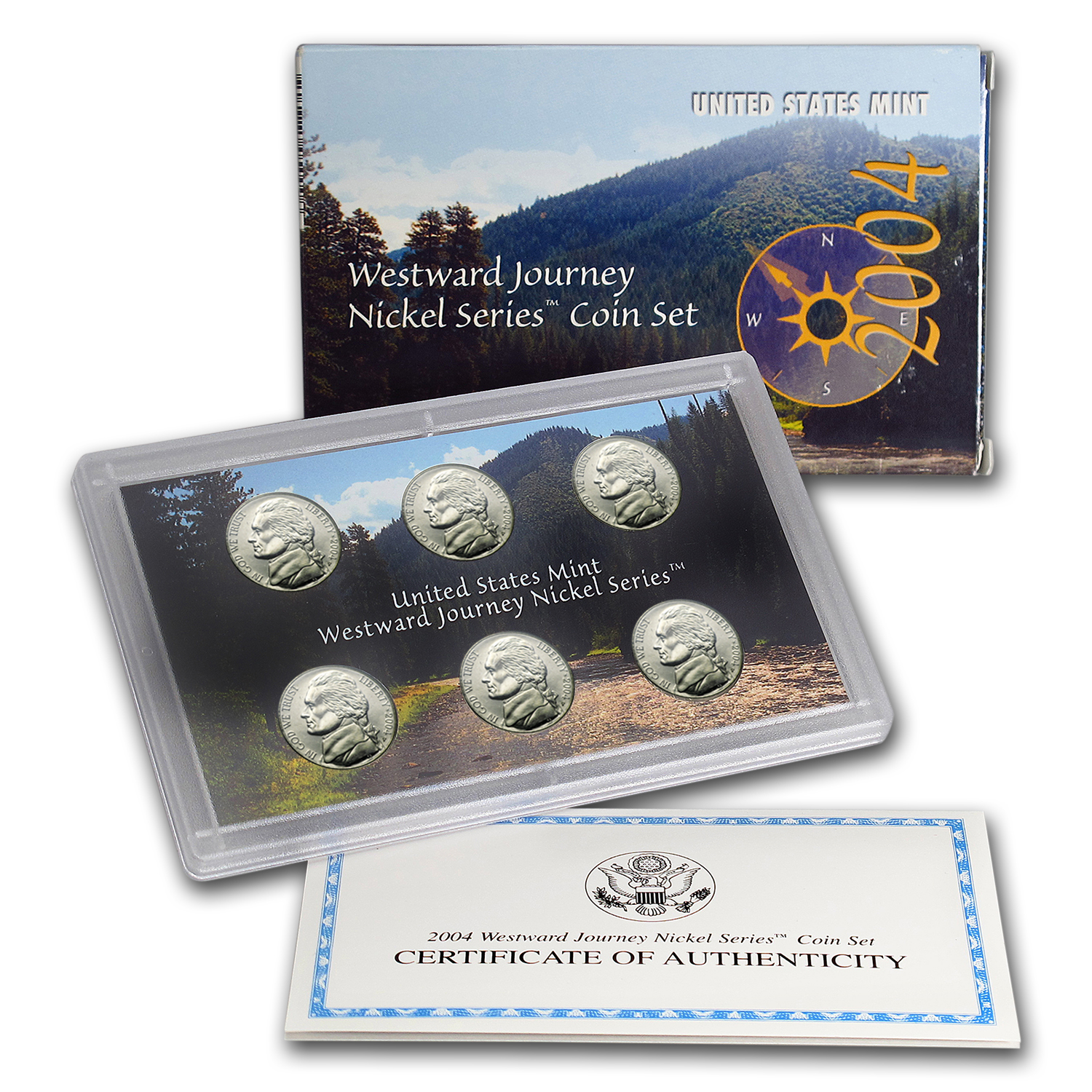 2004 Westward Journey Nickel Coin & Medal Set (w/Box & COA)