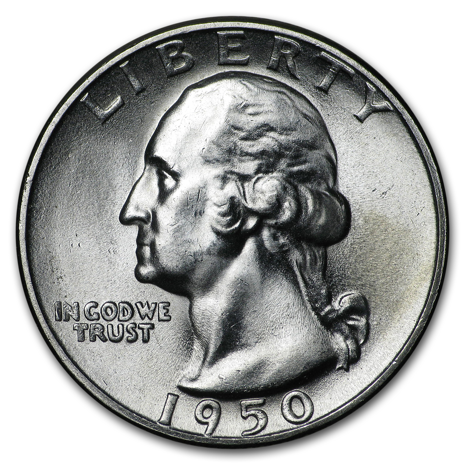1950-S Washington Quarter BU