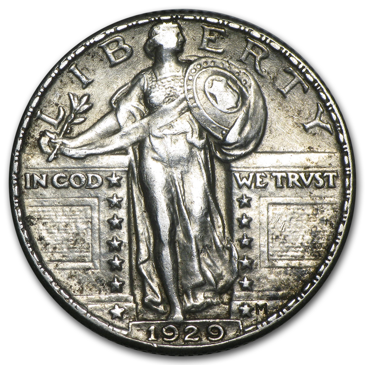 1929 Standing Liberty Quarter - Almost Uncirculated