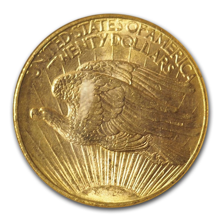1908-D $20 St. Gaudens Gold No Motto MS-63 NGC