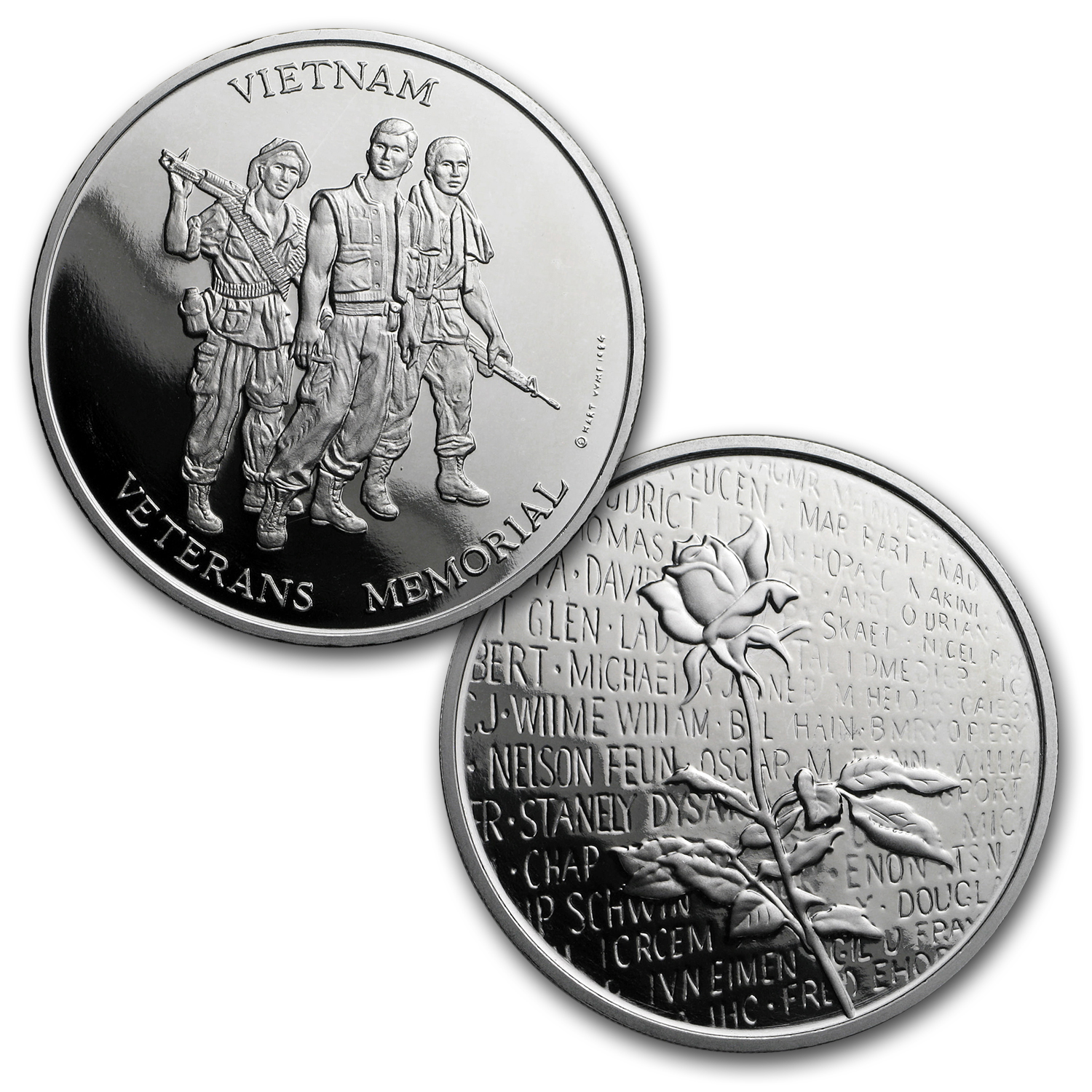 4 Metals Set - Vietnam Veterans Memorial Set (Au,Ag,Pt,Pd)