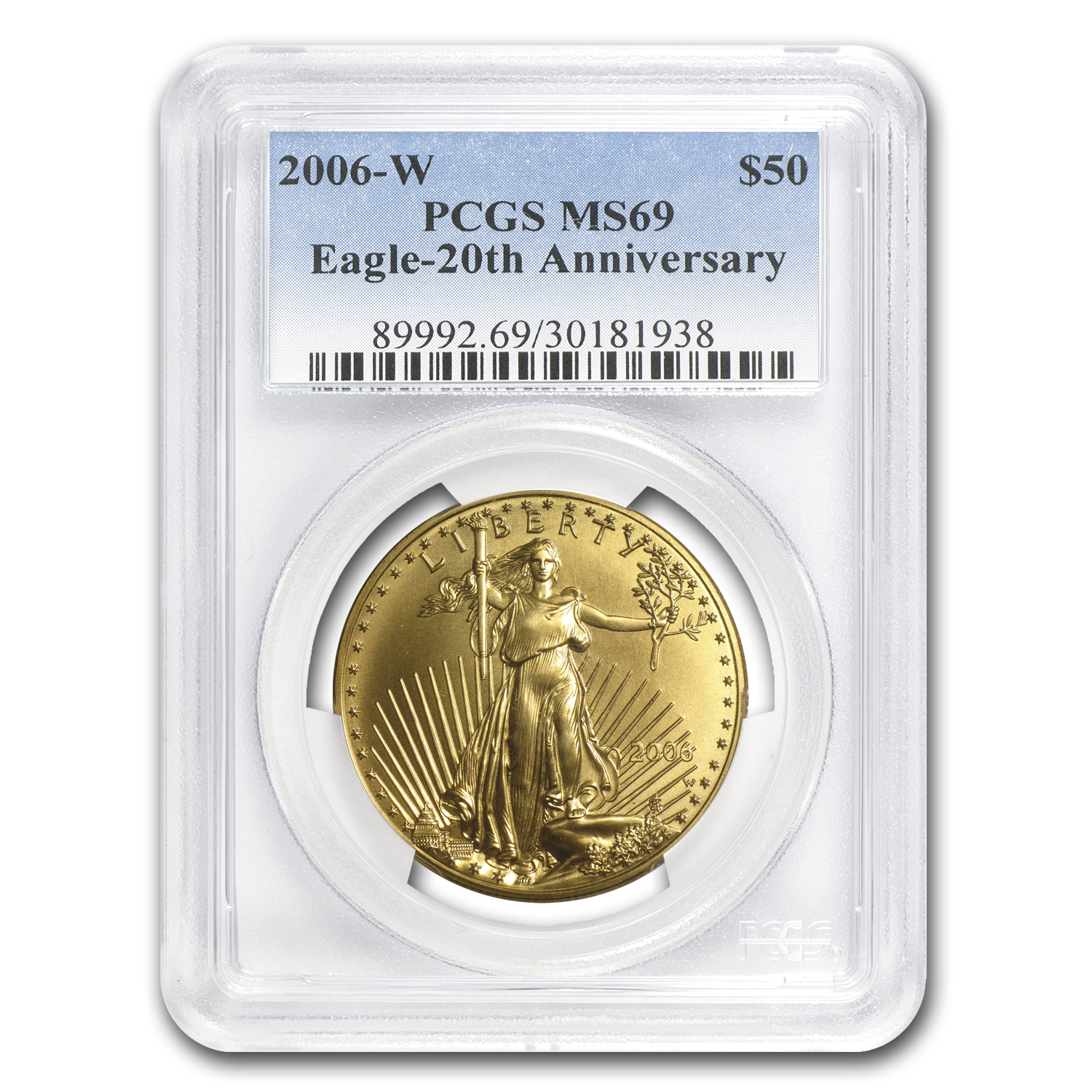 2006-W 1 oz Burnished Gold American Eagle MS-69 PCGS
