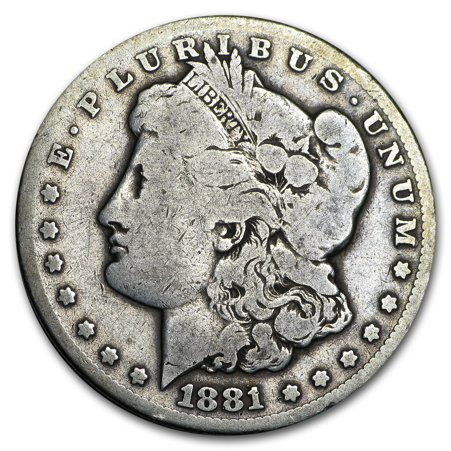 1881-CC Morgan Dollar VG