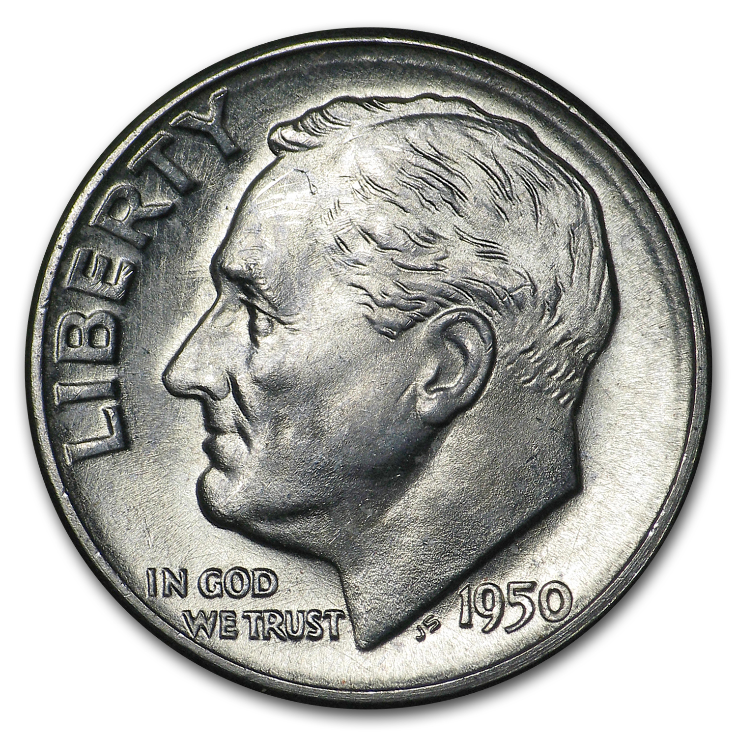 1950-D Roosevelt Dime Roll (50ct) - Brilliant Uncirculated