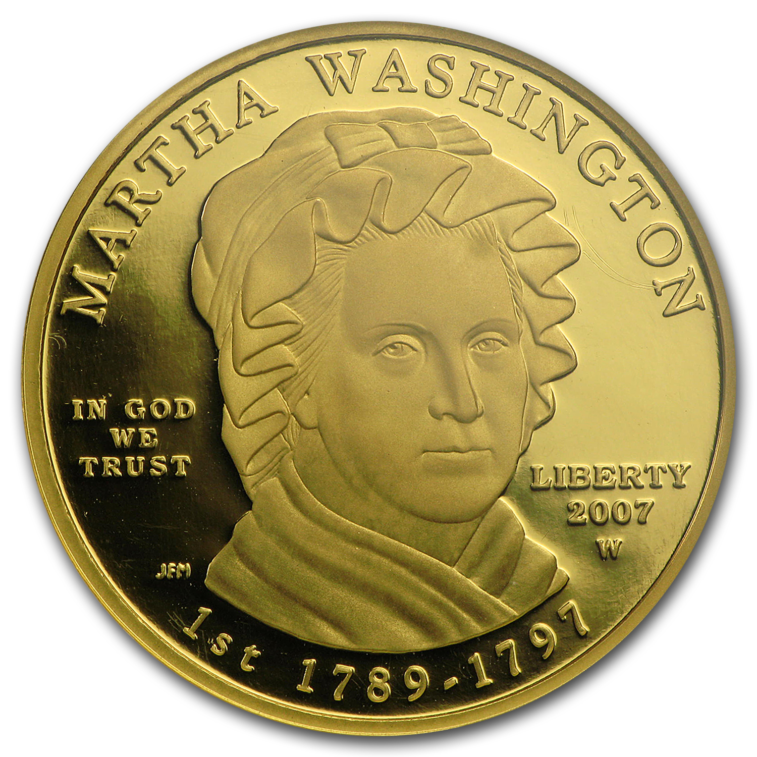 2007-W 1/2 oz Proof Gold Martha Washington PF-70 NGC