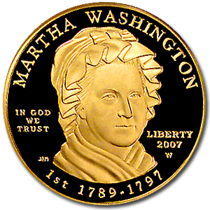 2007-W 1/2 oz Proof Gold Martha Washington PF-70 NGC UCAM