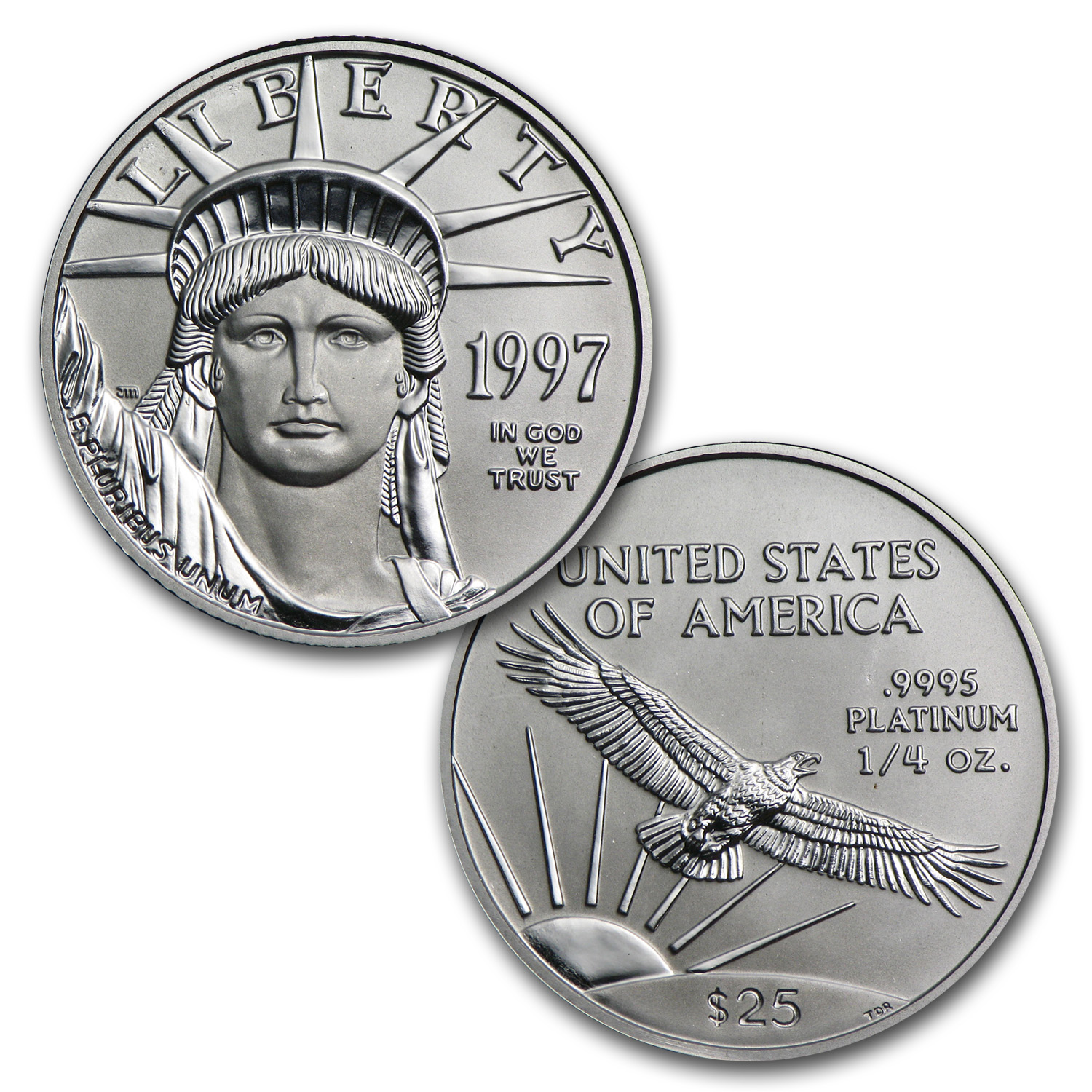 1997 4-Coin Platinum American Eagle Set (w/Box & COA)