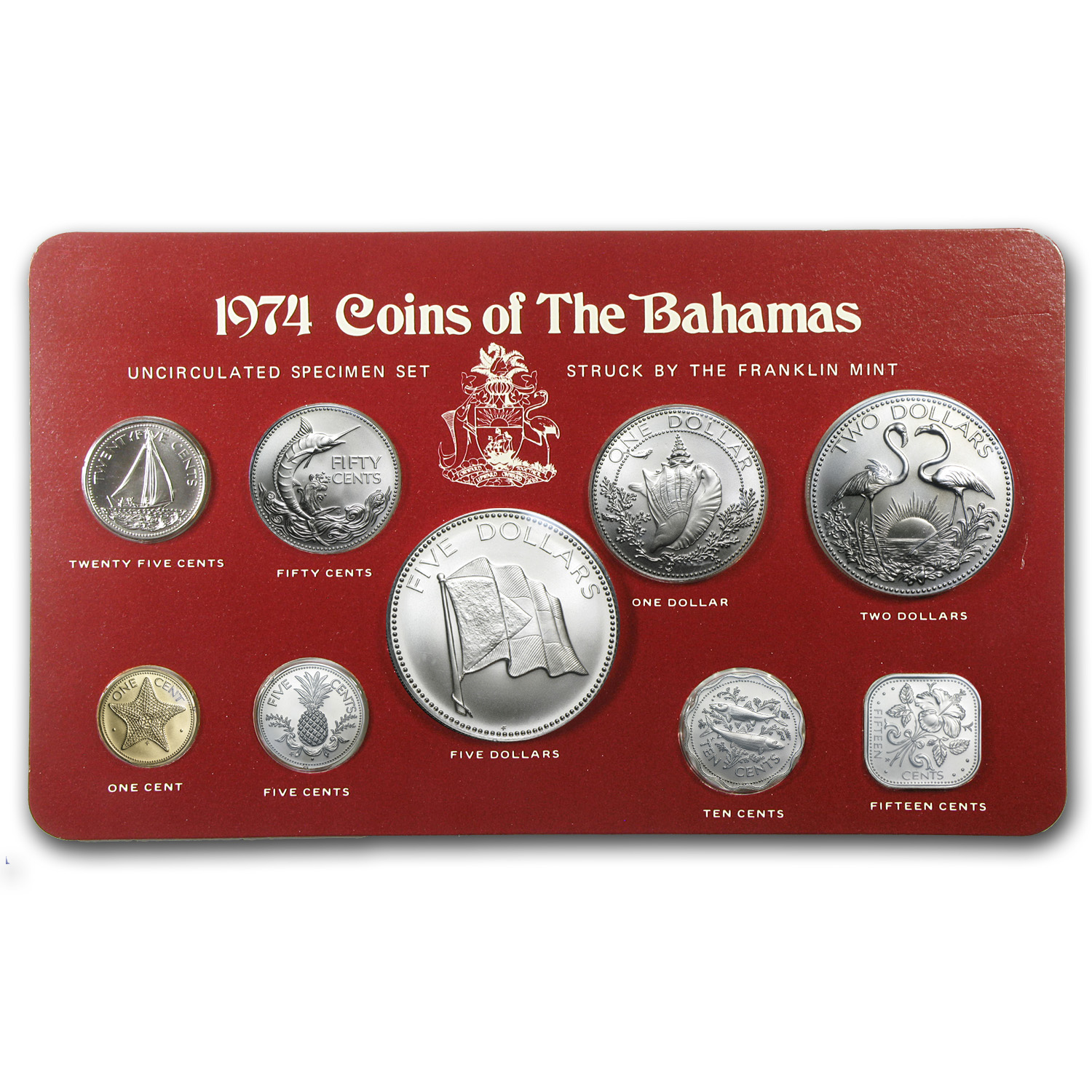 Bahamas 1974 9 Piece Uncirculated Specimen Set