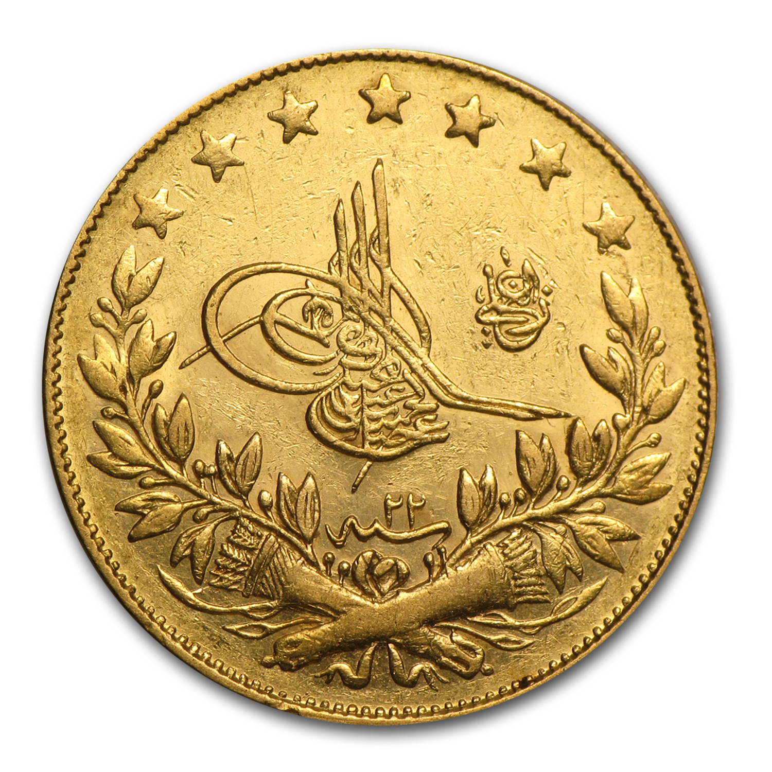 Turkey Gold 100 Kurush Average Circ Random Dates Gold