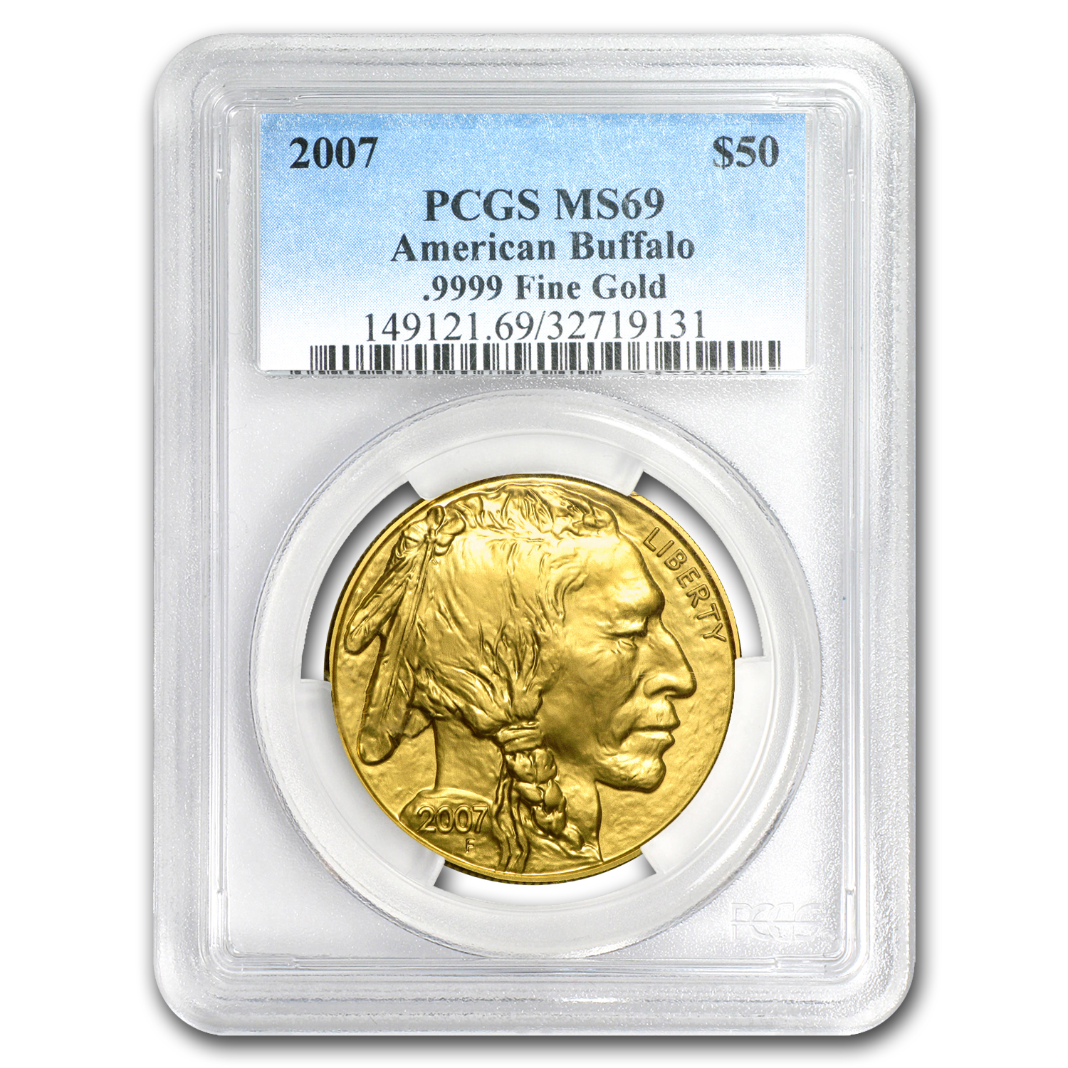 2007 1 oz Gold Buffalo MS-69 PCGS
