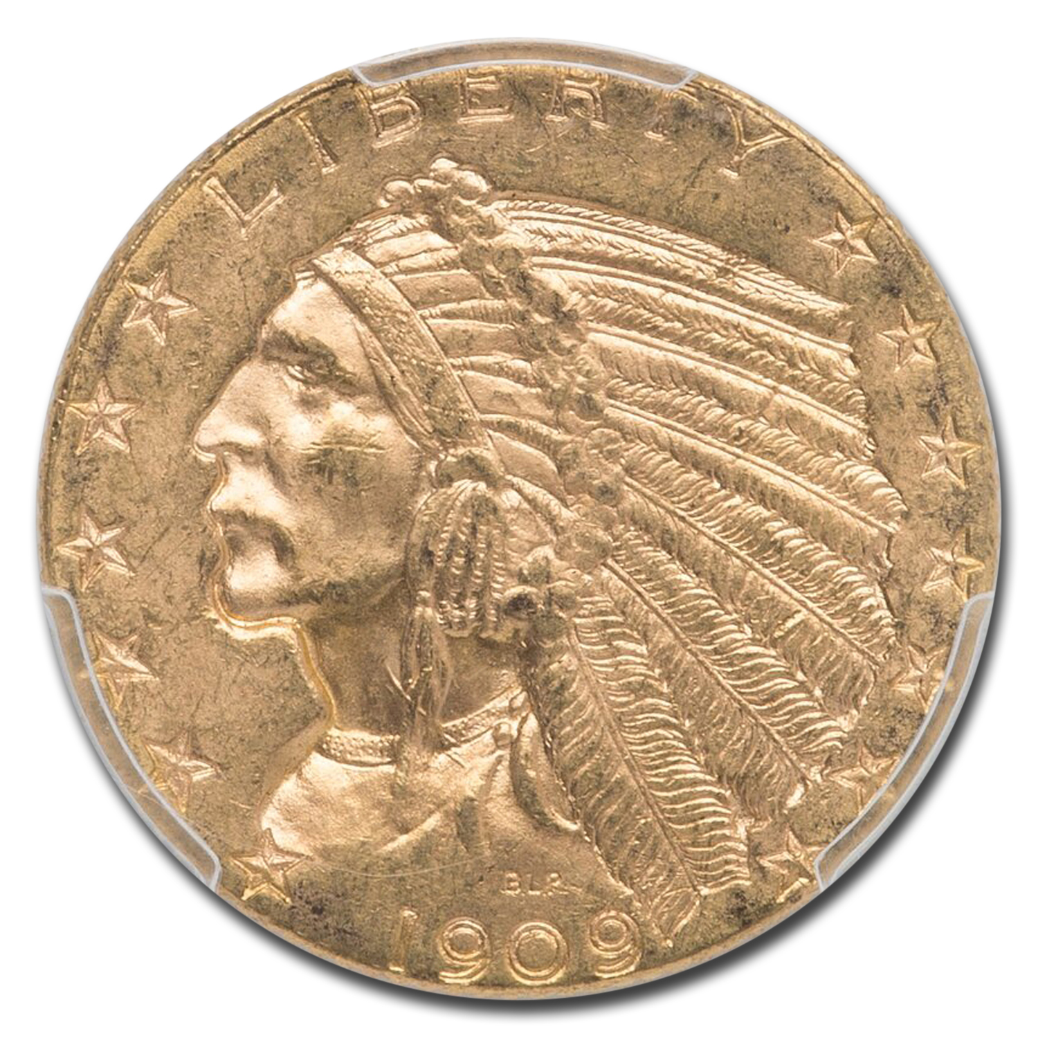 1909-D $5 Indian Gold Half Eagle MS-63 PCGS (CAC)